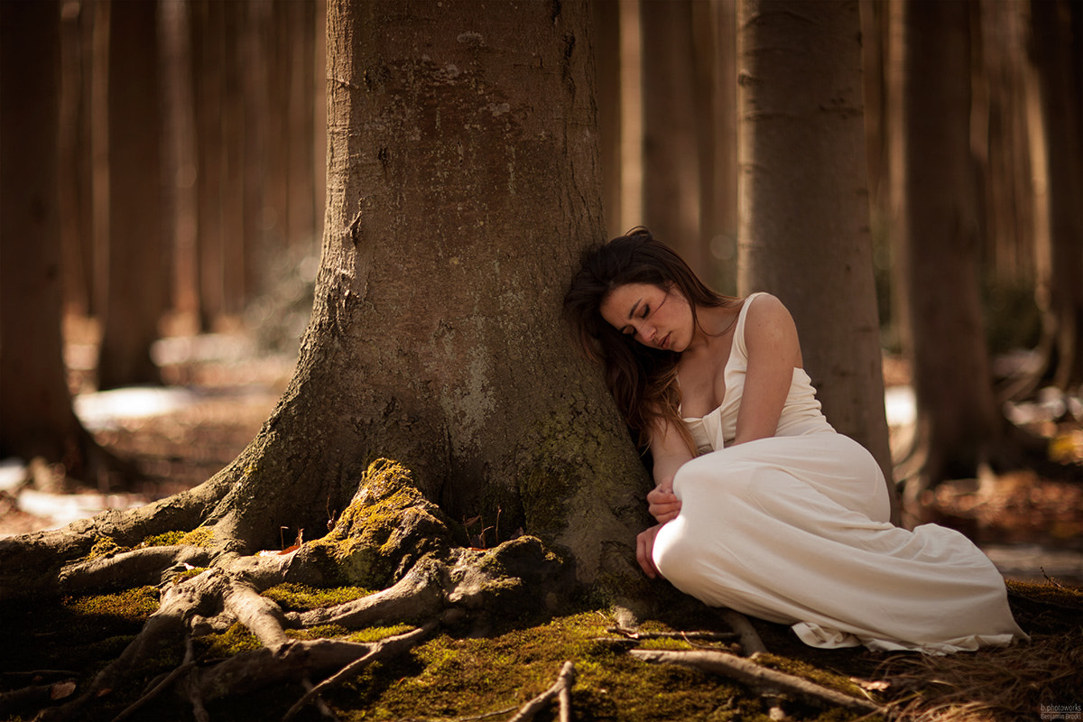 Photograph Marina alone in forrest by Benjamin Brocks on 500px