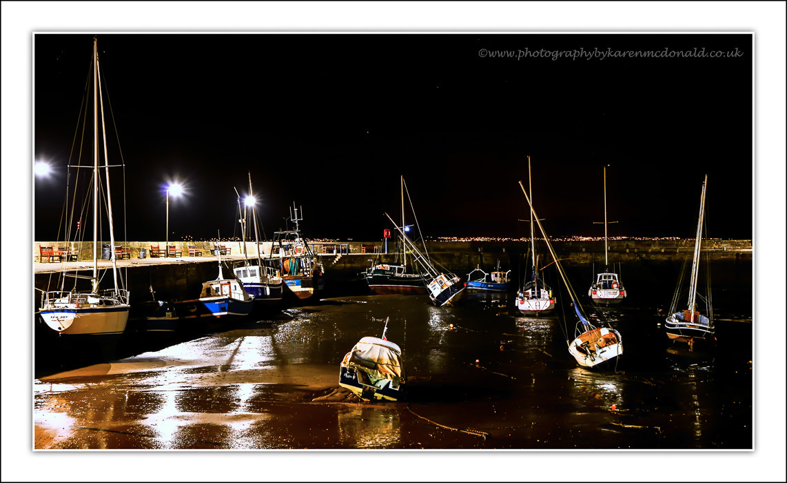 Photograph Musselburgh Harbour at Night by Karen McDonald on 500px