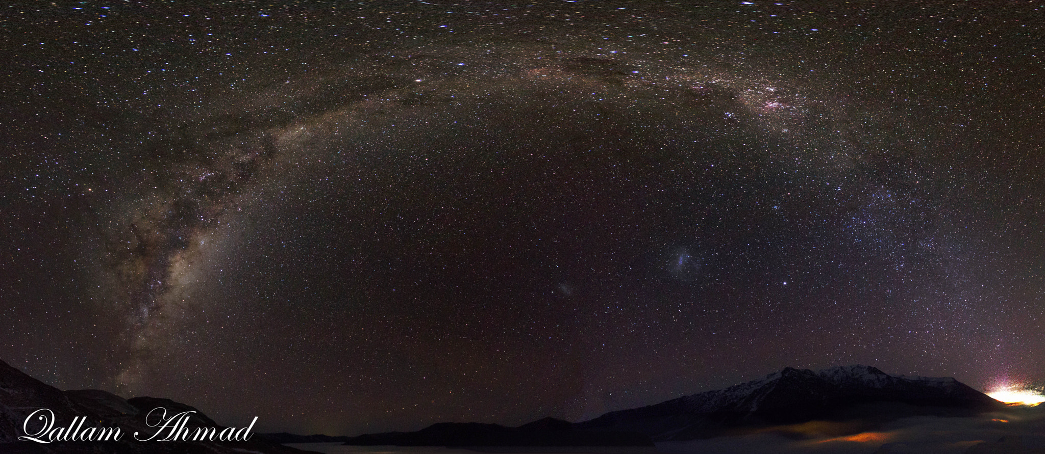 Photograph  Milky Way over Crown Range Road by Qallam Ahmad on 500px