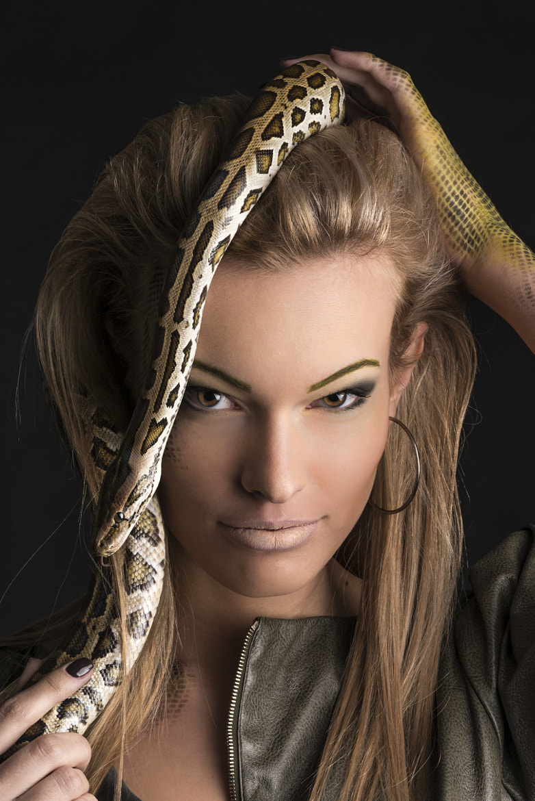 Photograph Beautiful russian Woman with Snake by Mike Kolesnikov on 500px
