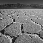 Salt flats in harsh light. Death Valley, CA