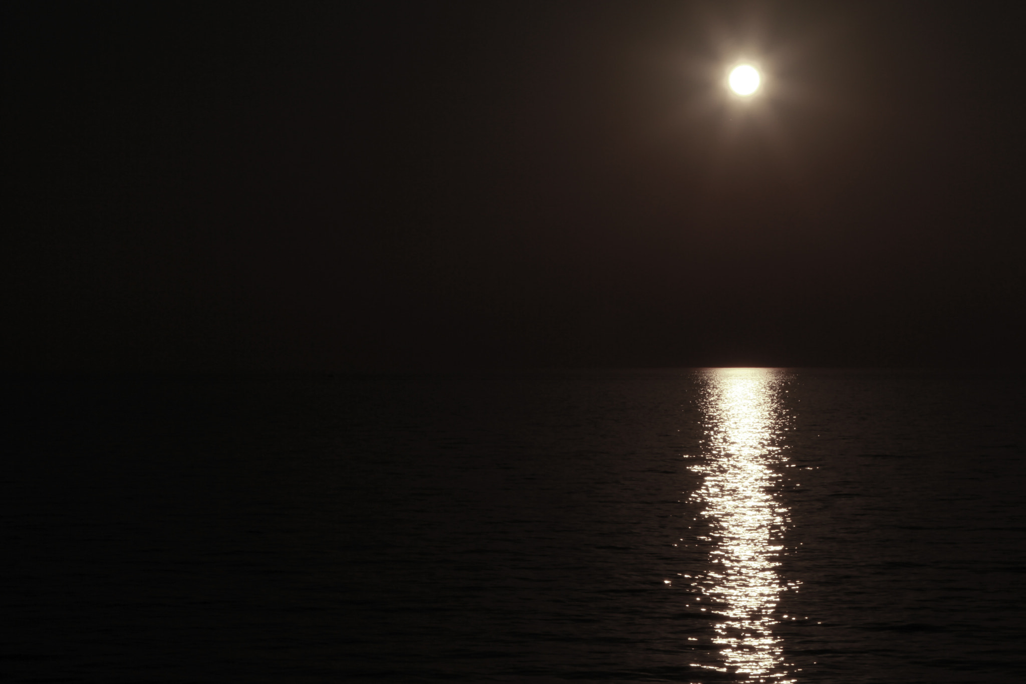Photograph Moon over Lake Erie by Tom Rogula on 500px