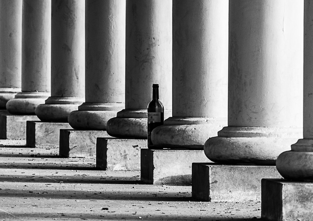 Photograph Alley of pillars with wine bottle. by Michal Jenčo on 500px