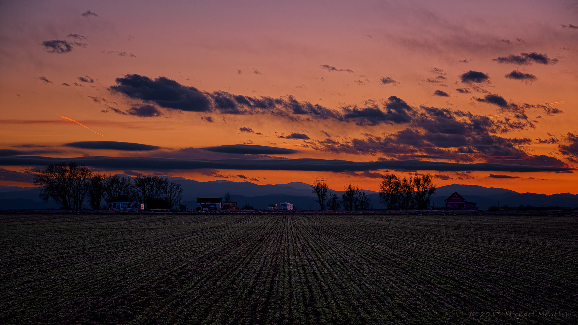 Photograph Early Spring Sunset on a Weld Farm by Michael Menefee on 500px
