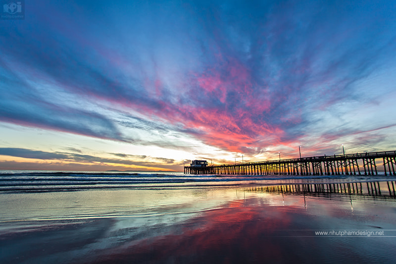 Photograph Amazing sunset at Newport Beach Pier by Nhut Pham on 500px
