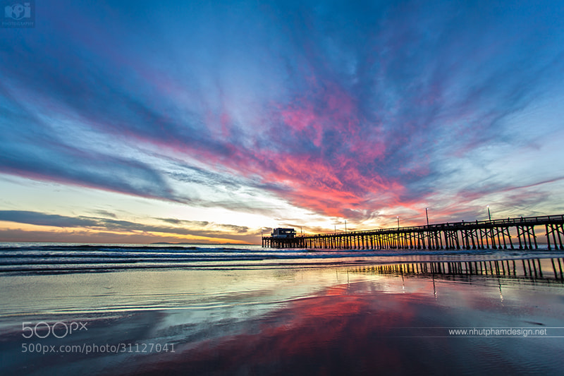 Photograph Amazing sunset at Newport Beach Pier by Nhut Pham on 500px