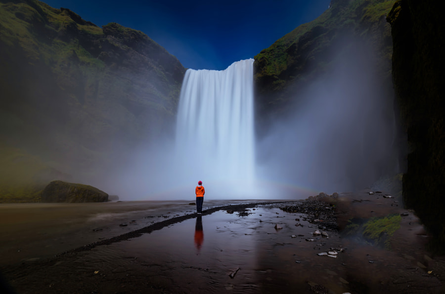Skogafoss waterfall by David Dai on 500px.com