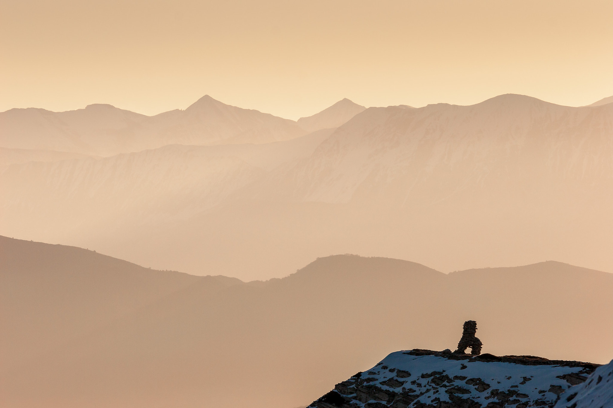 Photograph Cairn with the Alps by richaix . on 500px