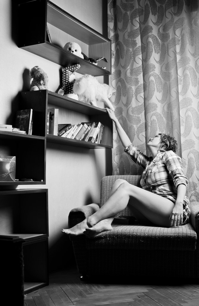 Photograph She and her cat by Nataly Golubeva on 500px