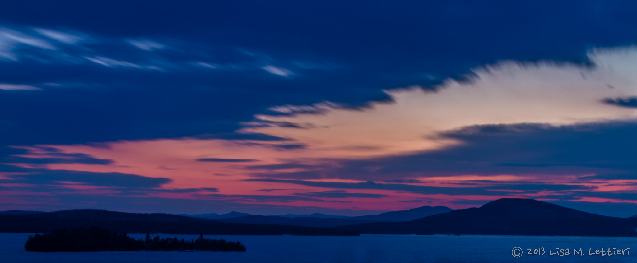 Photograph Sunset over Rangeley Lake by Lisa Lettieri on 500px