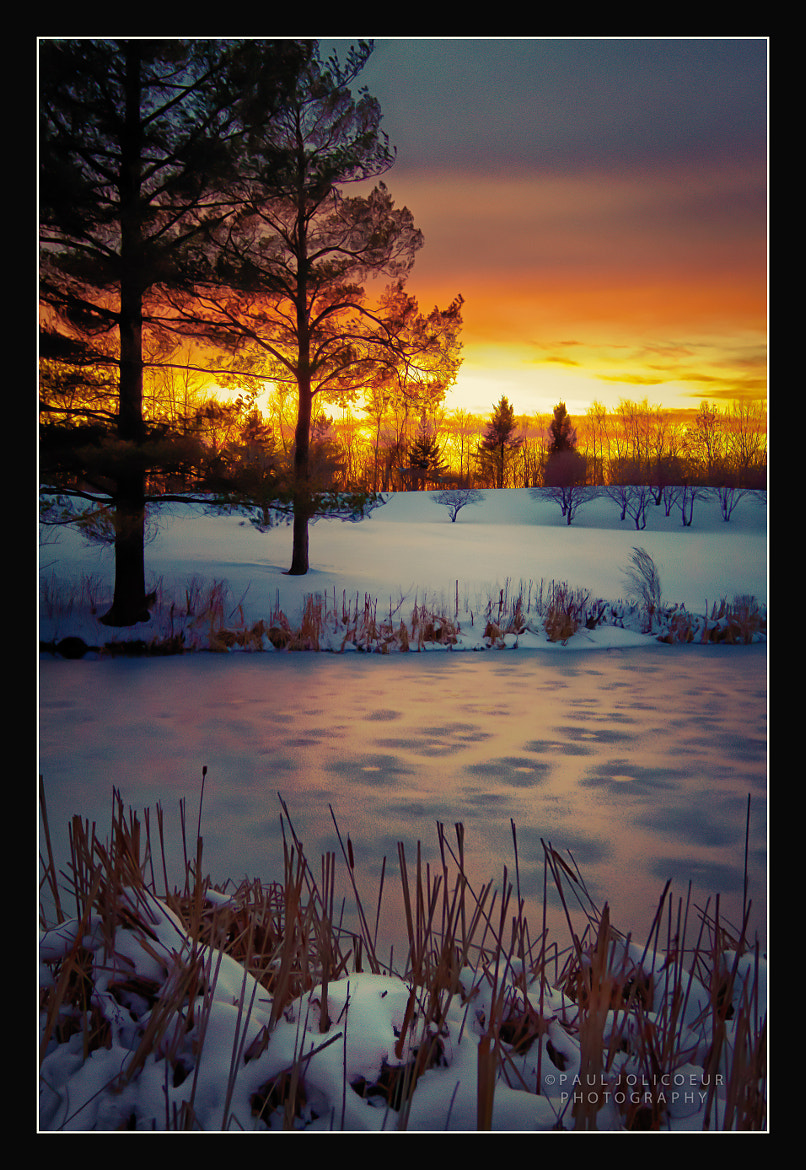 Photograph Sunset on the Frozen Pond by Paul Jolicoeur on 500px