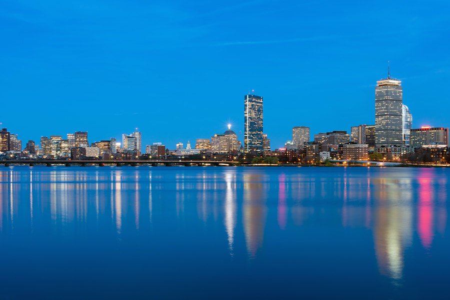 View of Boston's Back Bay, taken from across the Charles River in Cambridge.