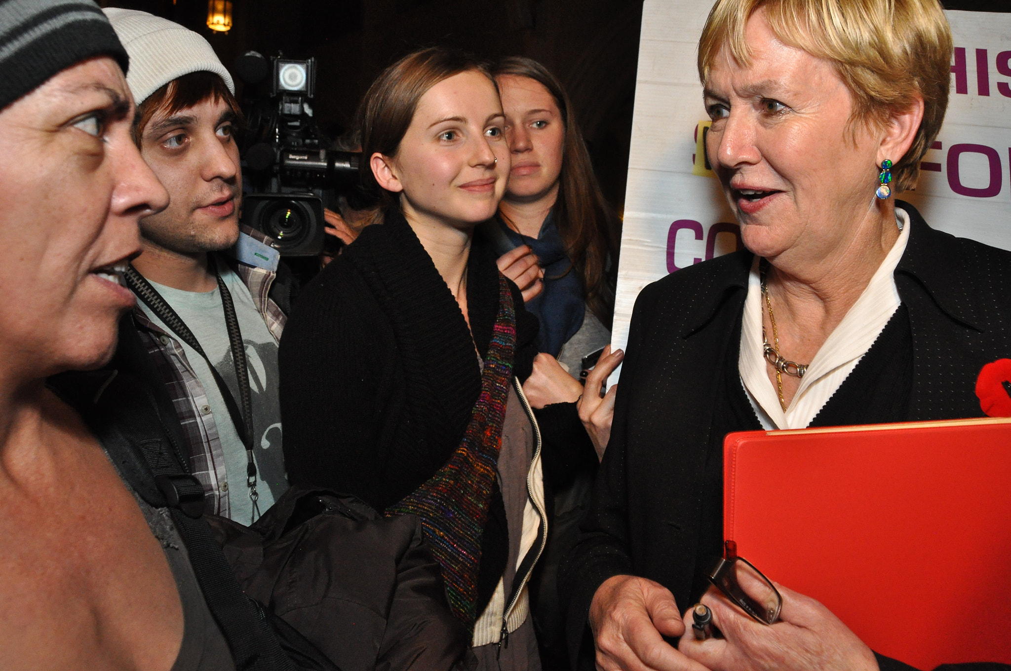 Photograph Suzanne Anton takes criticism from Occupy Vancouver protesters after mayoral debate by Stephen Hui on 500px