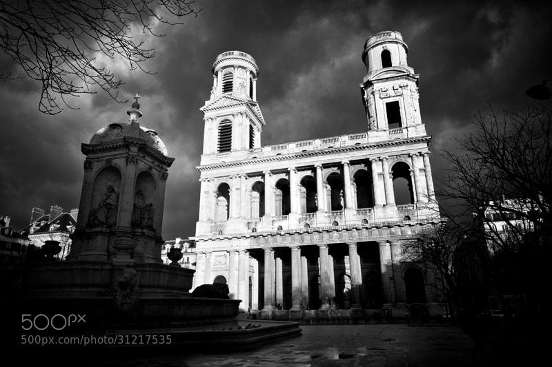 Photograph Saint Sulpice et l'orage by patrick plazzi on 500px