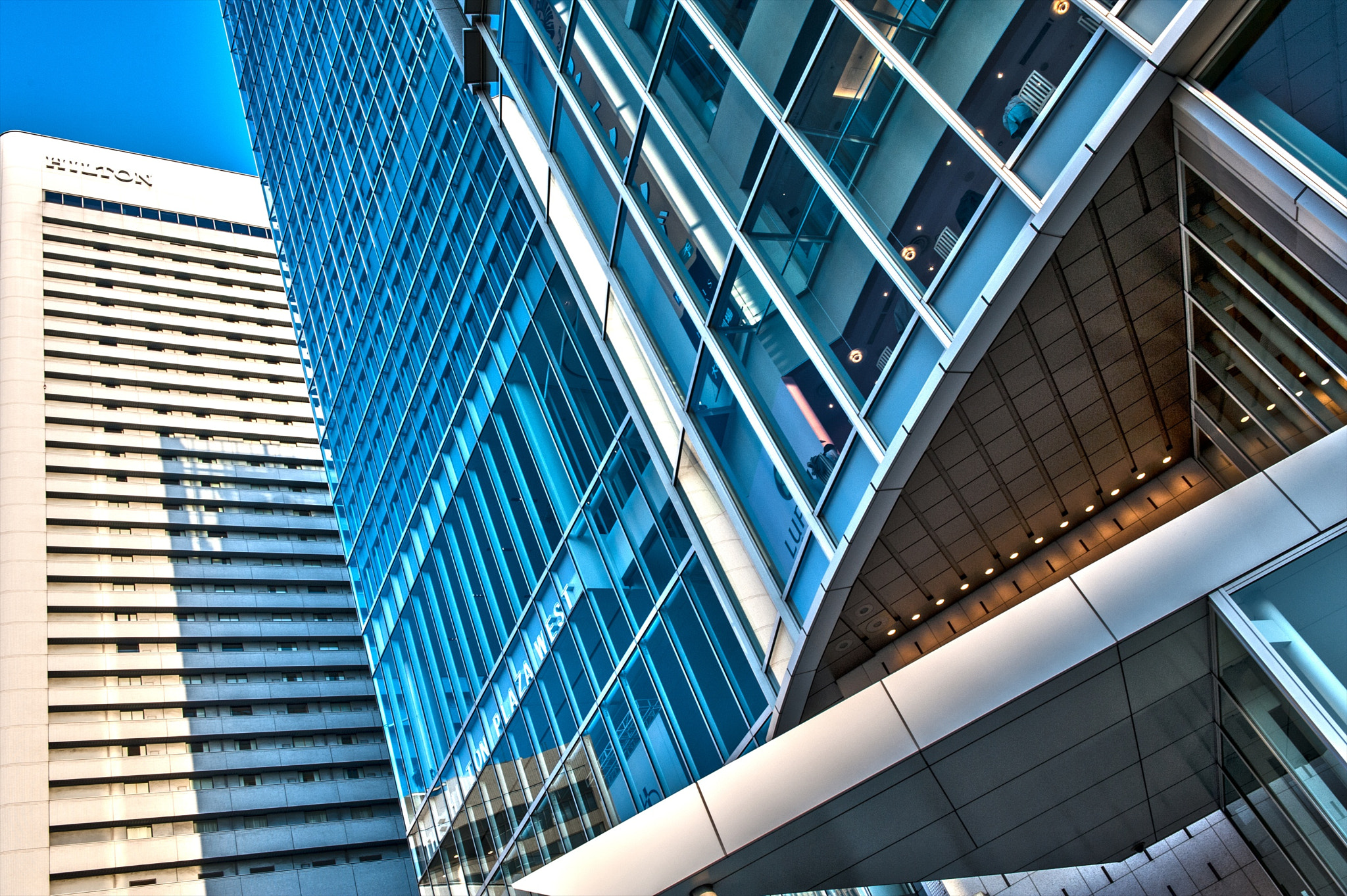 Photograph Hilton Buildings Osaka by hugh dornan on 500px