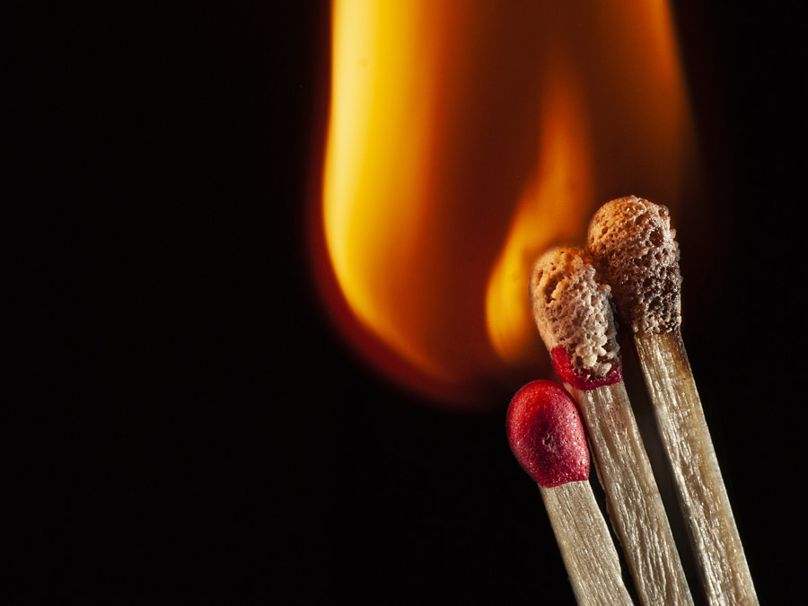 Three in flames by Ana V. on 500px.com