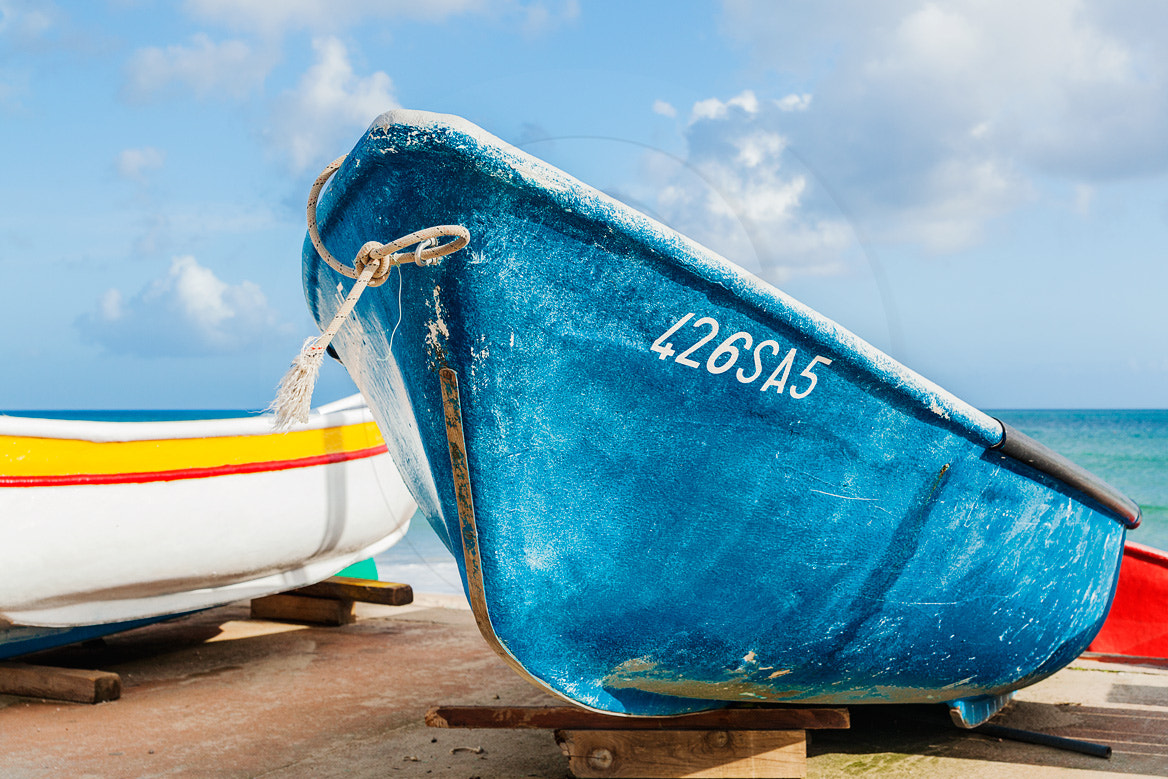 Photograph the blue boat by Andreas Saldavs Kommunikation on 500px