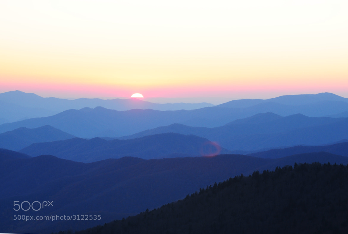 Photograph Smoky Mountain sunset by Don Abernathy on 500px