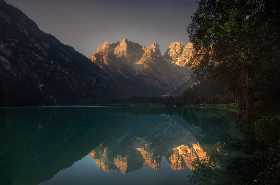 Lago di Landro from side by Zoltan Jasinszky on 500px.com