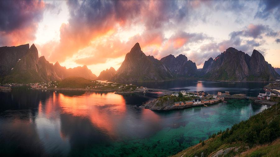 Lofoten Summer Sunset by Daniel Fleischhacker on 500px.com