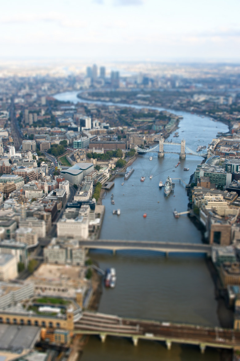 Photograph Tilt-shift over the Thames by Robin Hawkes on 500px