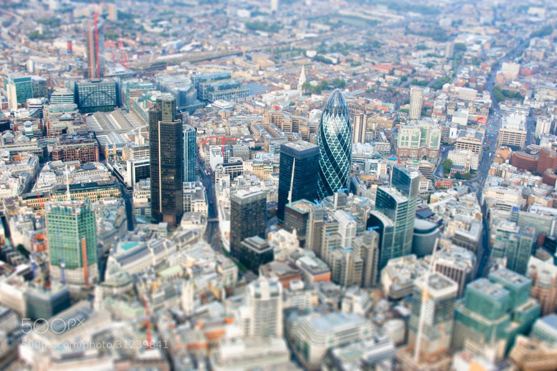Photograph London Gherkin in Tilt-shift by Robin Hawkes on 500px