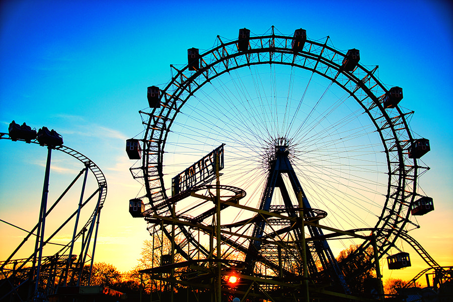 Photograph Giant Wheel Sunset by Sanjin Jukic on 500px