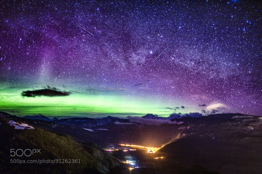 Milky way, Shooting star, and Northern lights by Richard Gottardo (RichardGottardo)) on 500px.com