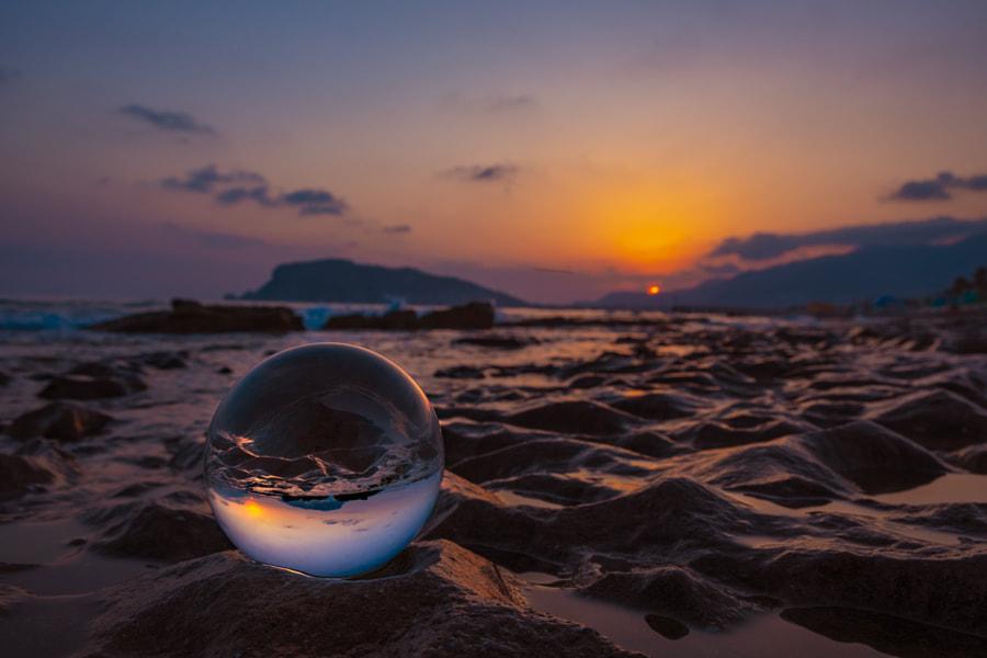 Alanya beach trow a lens ball by Stefan Schnöpf on 500px.com