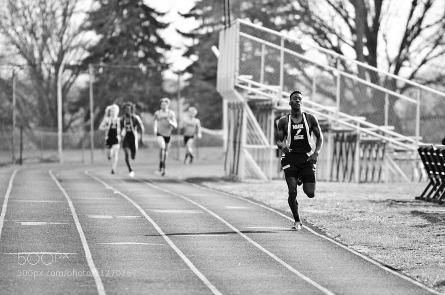 D'Heaven Kelley showing his powers in the long distance events of track season. He can run events such as the two mile seemingly without any effort, whatsoever. I have yet to see him break a sweat.