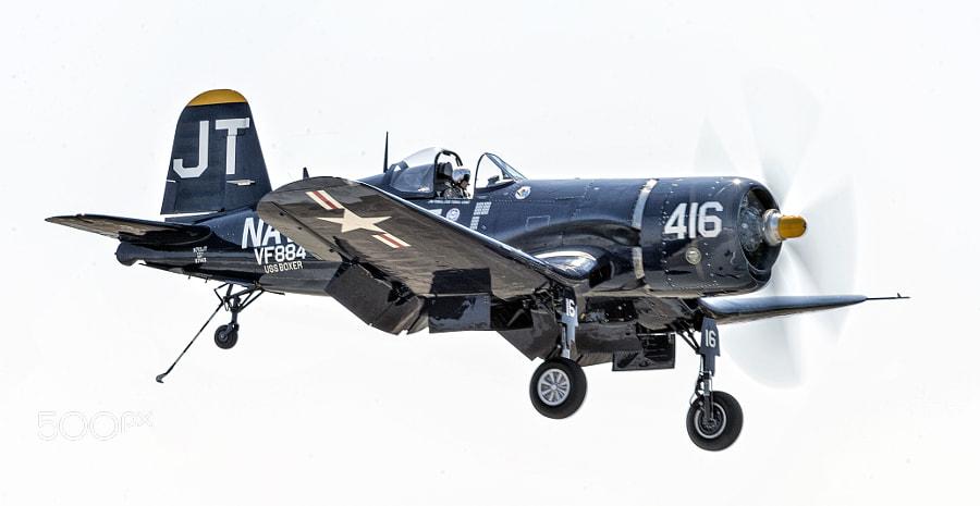 Jim Tobul flying the Korean War Hero F-4U Corsair