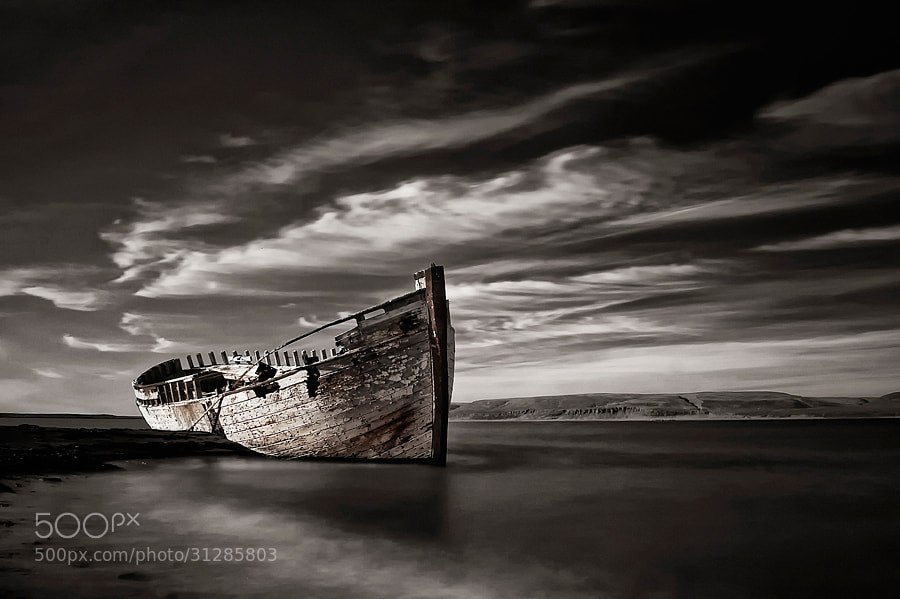 Photograph Shipwreck (mono) by Þorsteinn H Ingibergsson on 500px