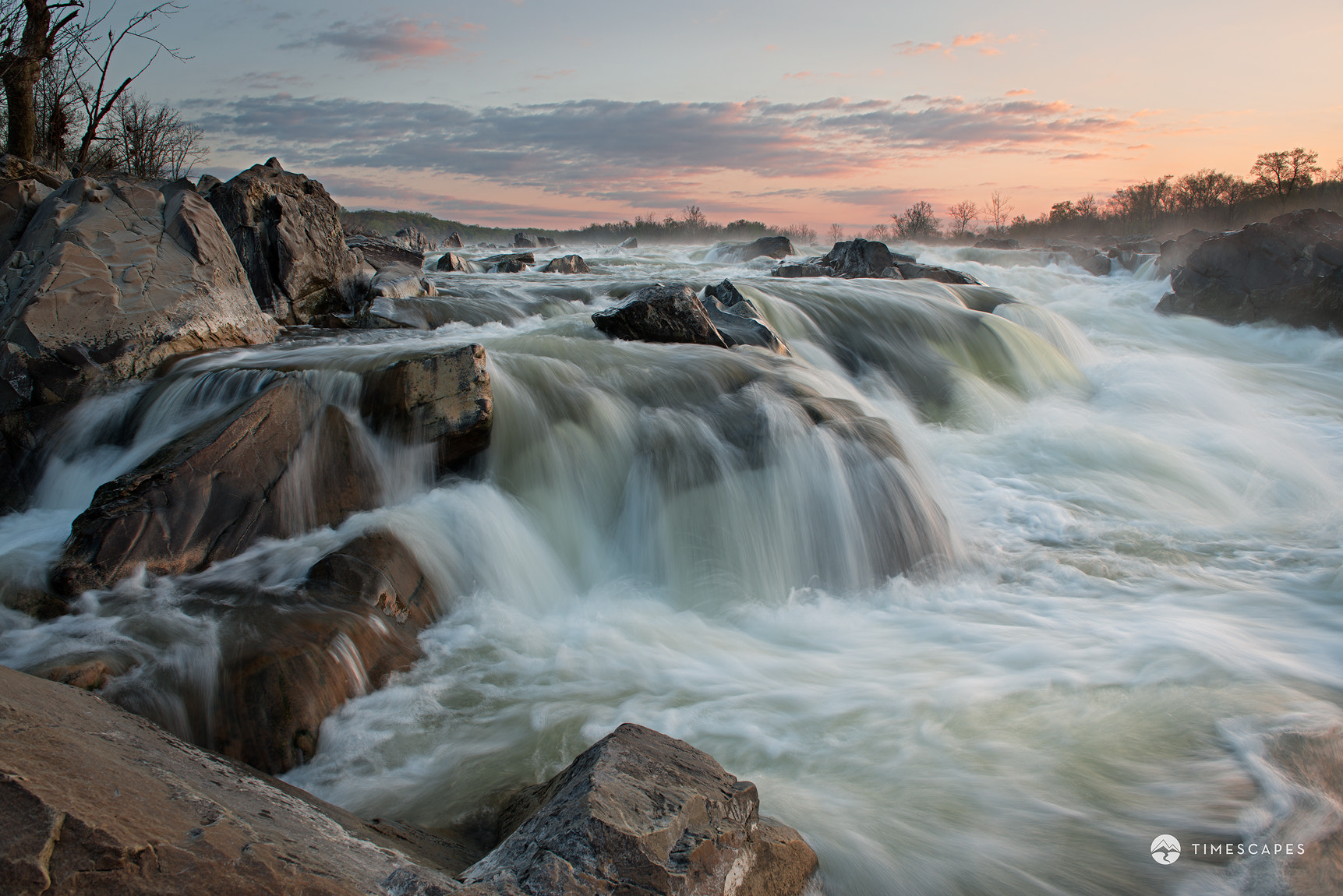 Photograph April Sunrise - Great Falls by Bernard Chen on 500px
