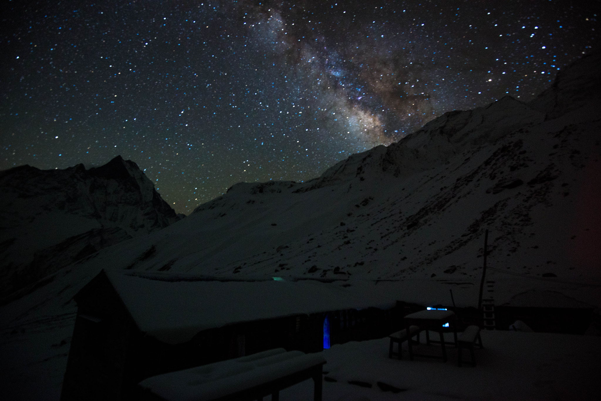 Photograph Milky way Above the Himalayas  by Sangesh Shrestha on 500px