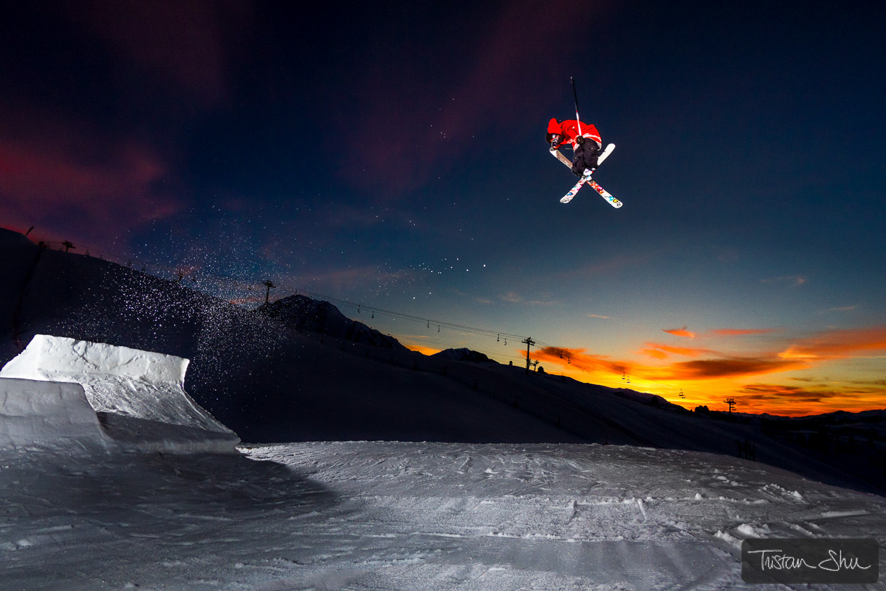 Photograph Tail Grabbing at Sunset with Flo Bastien by Tristan Shu on 500px