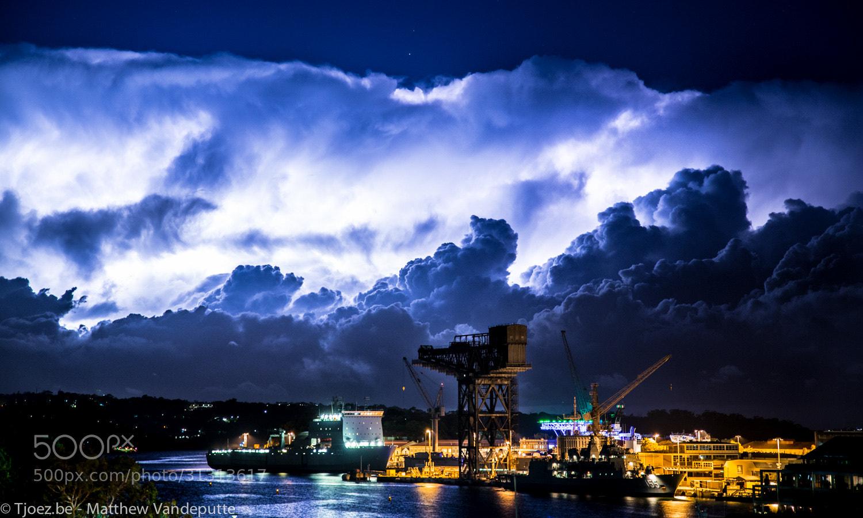 Photograph Woolloomooloo Bay lightning. by Matthew Vandeputte on 500px