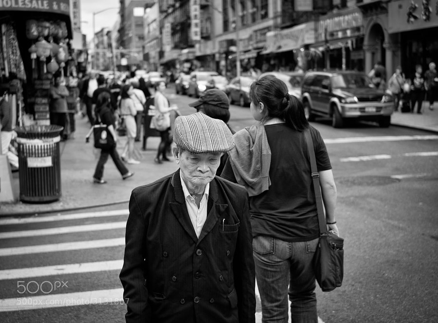 Old man in New York's Chinatown