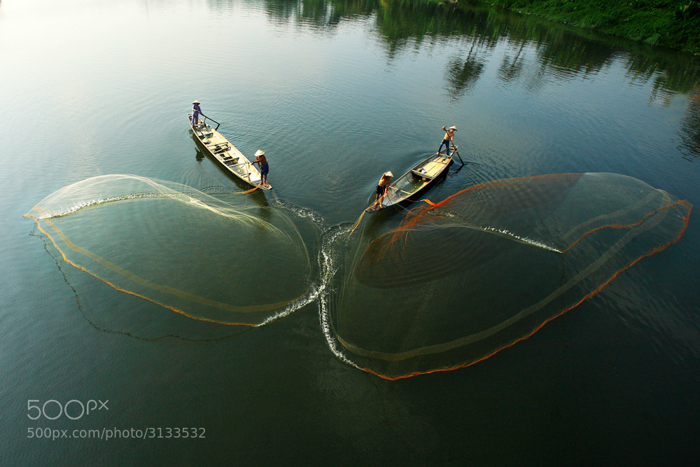 Photograph Fishing on the river by Viet Hung on 500px