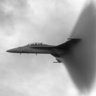 High humidity and a Super Hornet high speed pass = massive vapor