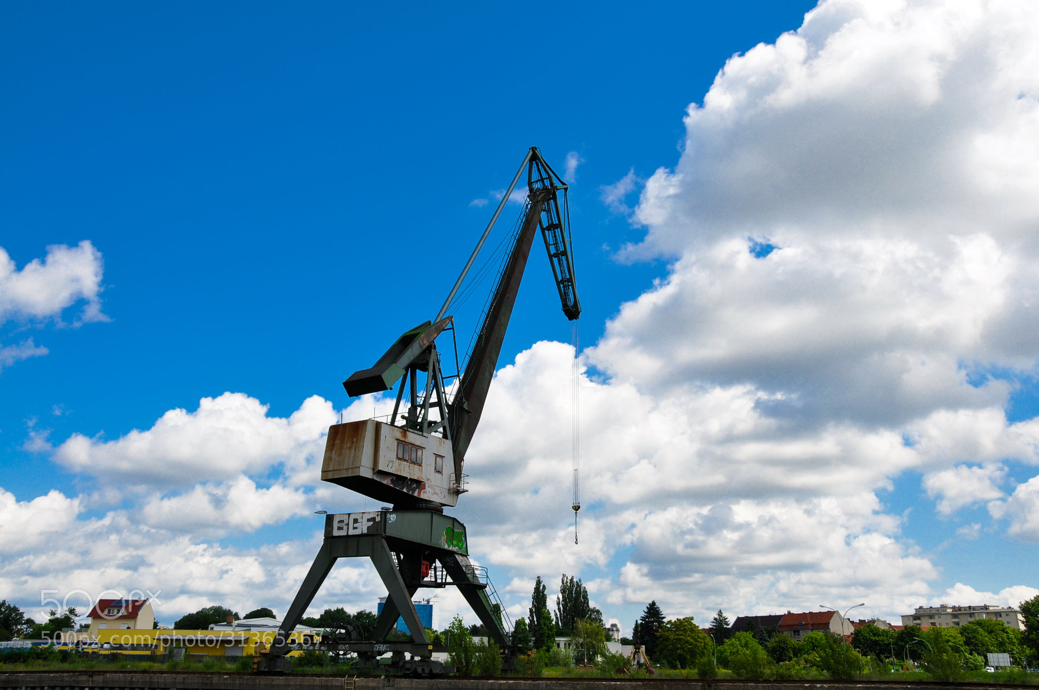 Photograph Crane and Sky by BA ST on 500px