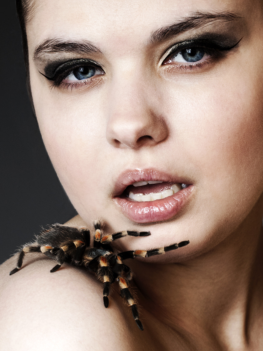 Photograph Celina and the spider 1 by Kim Sørensen on 500px