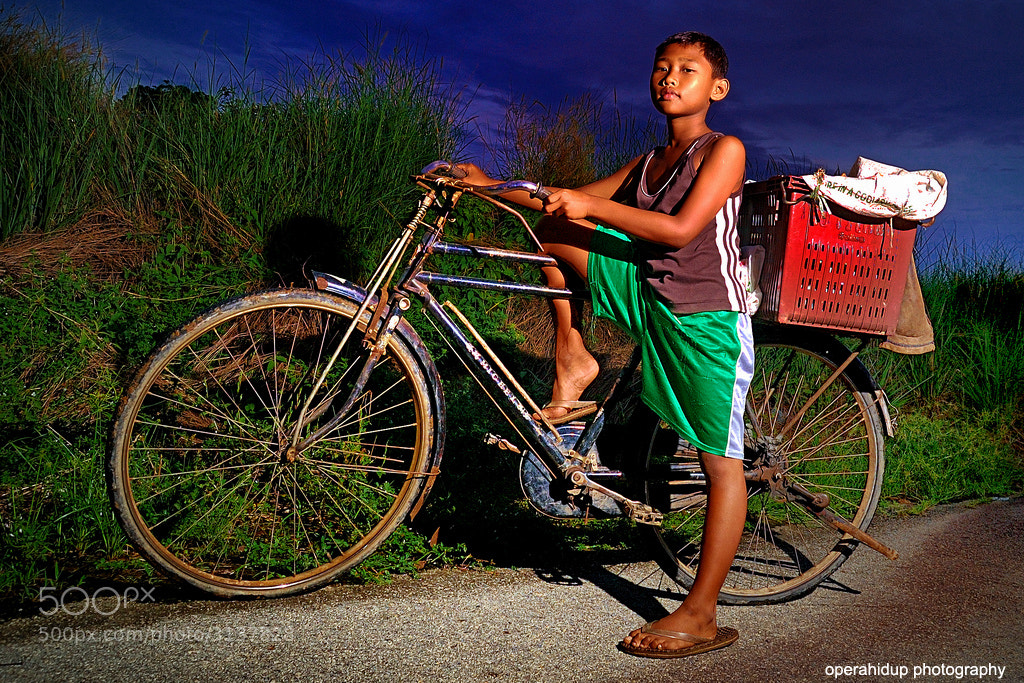 Photograph A BOY WITH BICYCLE  by OPERAHIDUP PHOTOGRAPHY on 500px