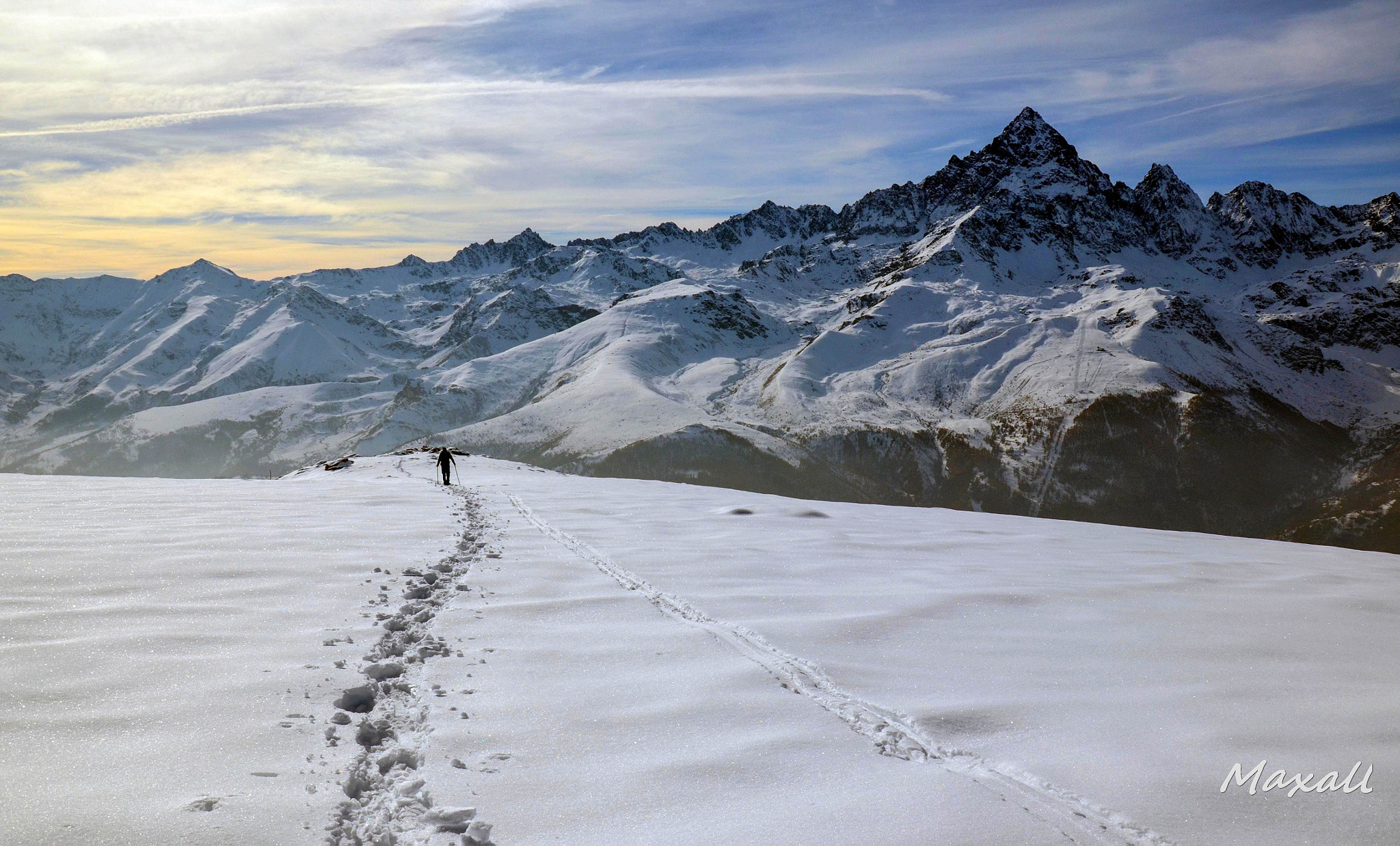 Photograph Walking on the snow by Massimo Alloi on 500px