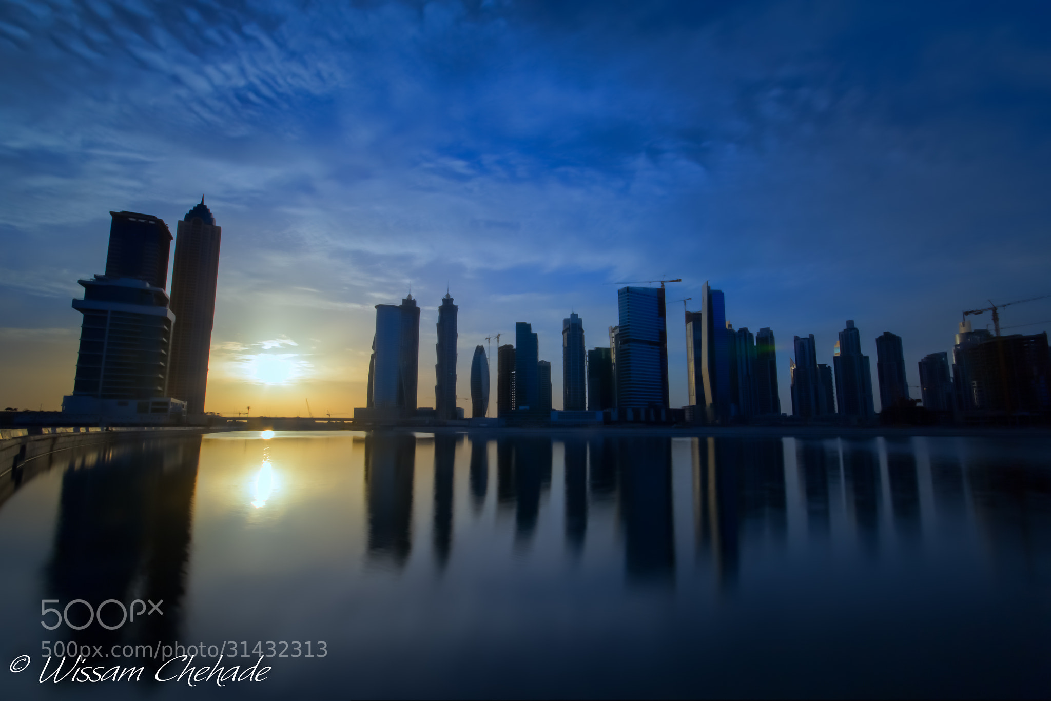 Photograph Blue Warm Sunset ... by Wissam Chehade on 500px