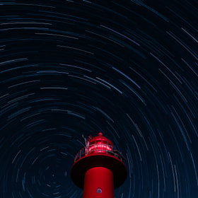 Startrails with a Lighthouse