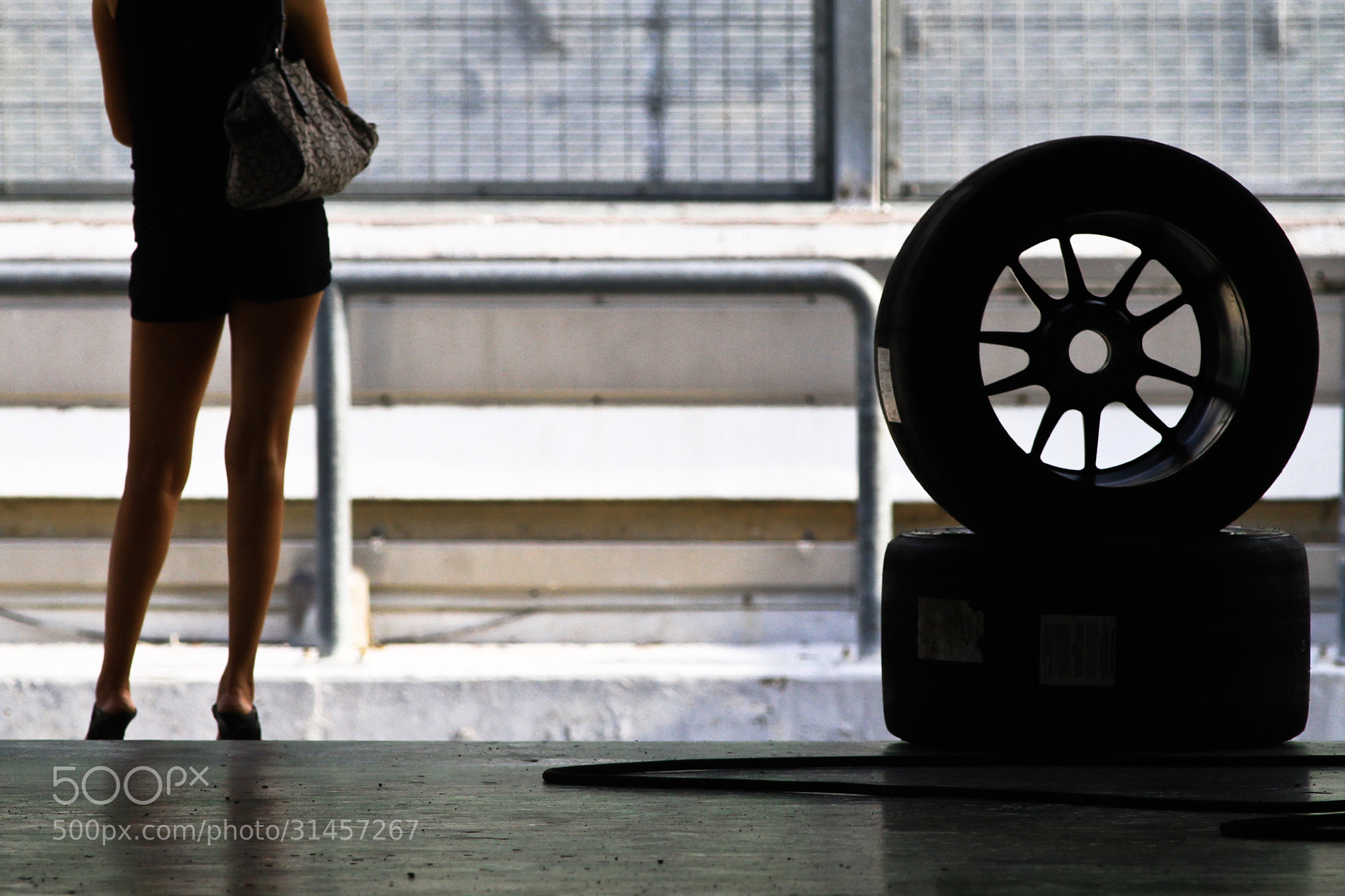Photograph Girl in the Pitlane by Hazrin CRIC on 500px