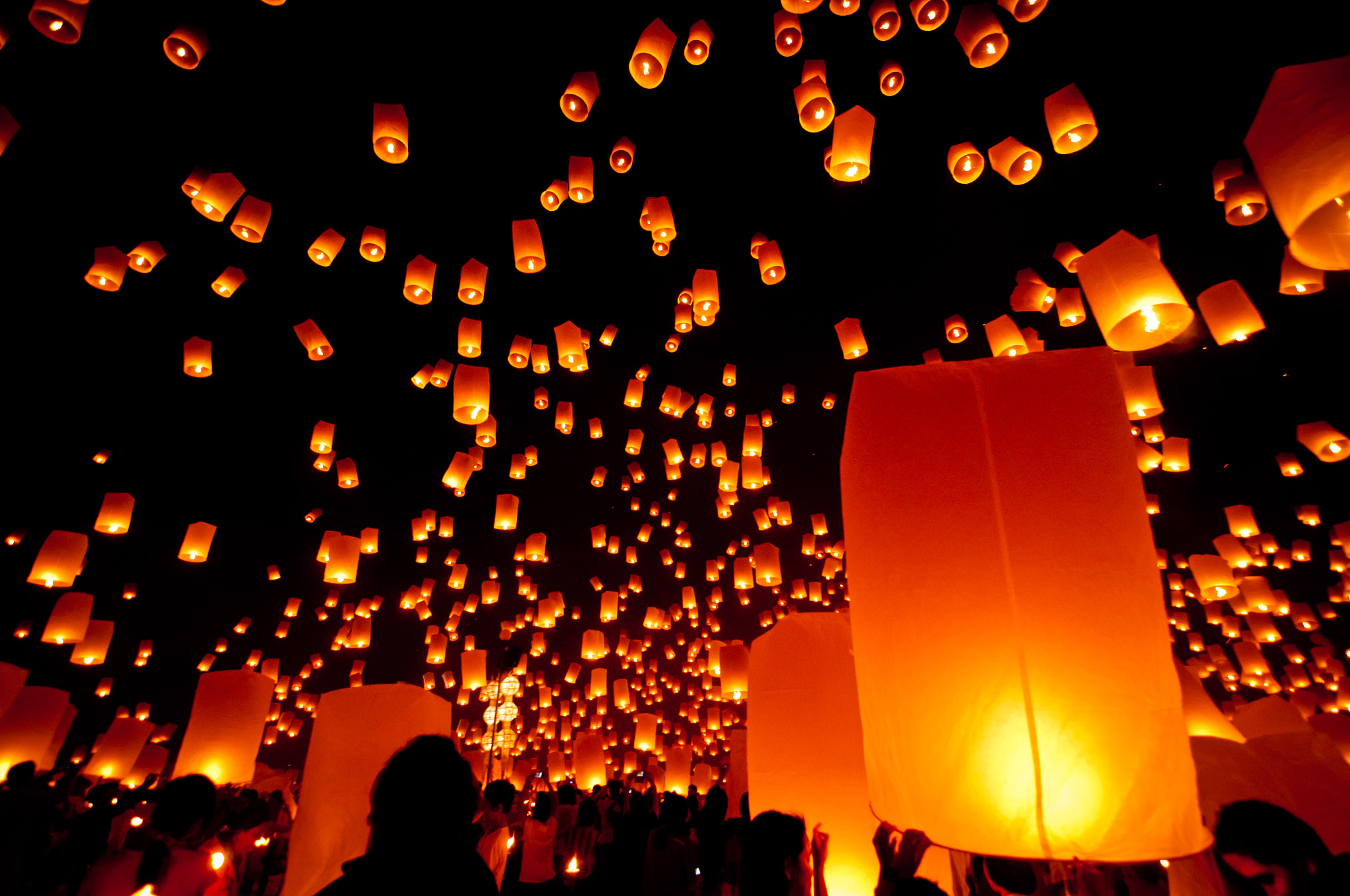 Photograph Floating Lanterns by Mark Fischer on 500px