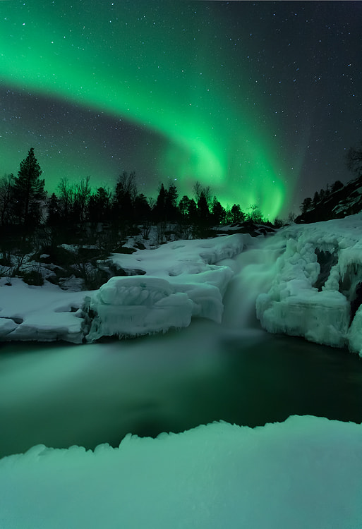 Photograph Aurora Waterfall by Arild Heitmann on 500px