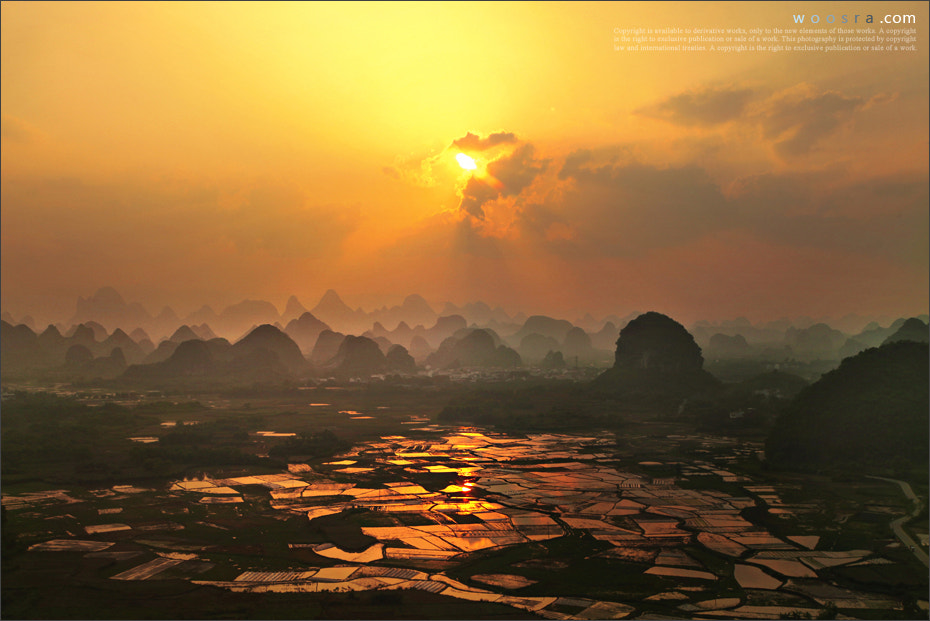 Photograph Sunset of Putao township in Guilin by Woosra Kim on 500px