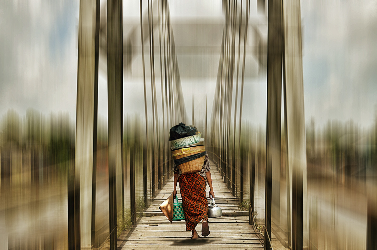 Photograph bridge crossing by 3 Joko on 500px